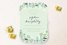 For colors only: Sea Floral Bridal Shower Invitations by Grace Kreinbrink at minted.com