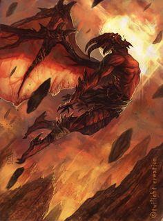 """orifice-torture: """"demon flight by fallen eye """" Fantasy Demon, Fantasy Races, Dark Fantasy Art, Fantasy Artwork, Dark Art, Ange Demon, Demon Art, Demon Eyes, Dark Creatures"""