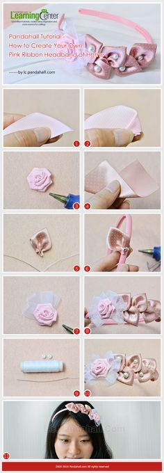 Pandahall Tutorial - How to Create Your Own Pink Ribbon Headband at Home #ribbonheadband #pinkheadband #pandahall   PandaHall Promotion: use coupon code MayPINEN10OFF for 10% off for your orders, valid time from May 18 to May 31.