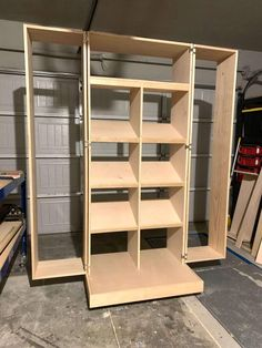 """""""This DIY Shoe Cabinet will solve all of your organization problems."""" These Shoe cabinet plans will walk you through step-by-step instructions on how to create hidden shoe storage for your shoe collection. Slim Shoe Rack, Shoe Racks, Shoe Shelves, Shelving, Craftsman Style Kitchens, Entryway Shoe Storage, Woodworking Projects Diy, Woodworking Plans, Basement Remodeling"""