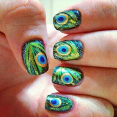 Evil eye nails. I love it. I need to walk around with these everywhere.