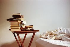 theliterariat:  Book Riot: What Your Book Pile Says About You