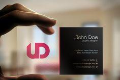 Creative Transparent Business Card - Business Cards - 1