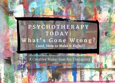 Isn't it interesting that we have more research than we've ever had, on the brain and on effective approaches to therapy. and yet fewer people are coming to therapy? Creative Connections, Community Boards, Expressive Art, Art Therapy, Understanding Yourself, Creative Inspiration, Psychology, Healing, April 7