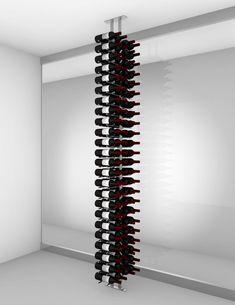Floor-to-Ceiling | Metal Floor Standing Wine Rack - Ultra Wine Racks Wine Bottle Storage, Wine Rack Storage, Wine Racks, Wooden Crates Vinyl, Wood Wall Wine Rack, Standing Wine Rack, Wine Stand, Vinyl Record Storage, Crate Shelves