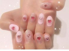 Pretty Nail Art, Cute Nail Art, Cute Acrylic Nails, Short Nail Designs, Nail Art Designs, Shellac Nails, Manicure, Kawaii Nail Art, Really Cute Nails