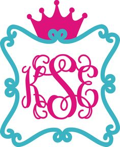 Scroll Wall Monogram with Crown