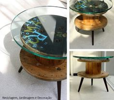 Recycled Furniture with Wooden Spools