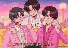 BTS boy with luv ft Halsey Kpop Anime, 90 Anime, Anime Kawaii, Halsey, Desu Desu, Catty Noir, Bts Twt, Anime Version, Estilo Anime