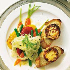 Mariniertes Gemüse mit Ziegenkäse