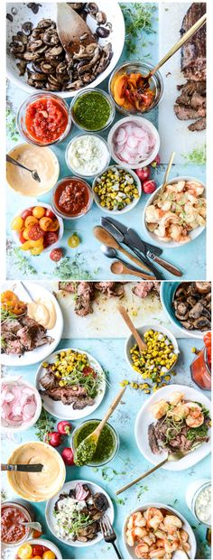 Marinated Grilled Flank Steak with a Toppings and Side Dish Bar! by @howsweeteats I howsweeteats.com
