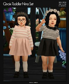 Toddler Nina Set for The Sims 4