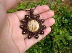 Retrouvez cet article dans ma boutique Etsy https://www.etsy.com/fr/listing/526568628/collier-ethnique-pierre-de-jaspe-paysage