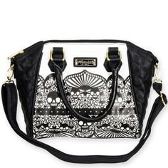 Crossbody-Bag-Black-White-Lace-Skull-LOUNGEFLY-Pop-Culture-Collectable