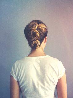 Triple bun updo {@Charla_Yvonne Instagram}