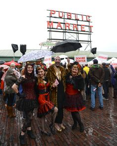 Waxy Moon and Old School Pinups showed their spirit in full costume at the Pike Up! Parade.