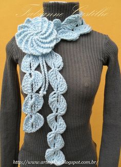Espiral de la flor de la bufanda