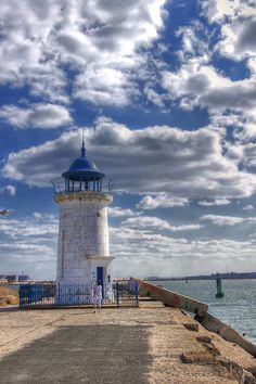 Mangalia Northeast Breakwater Light, Romania #dorderomanesc #romanian #art #tradition #motifs #details #elements #folklore #folkart #folk #romania #inspiration #nature