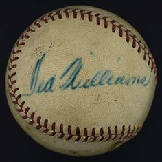"""1948 Ted Williams Single Signed """"Game-Used"""" OAL (Harridge) Baseball - PSA/DNA Certified - MLB Game Used Baseballs >>> Check this awesome product by going to the link at the image."""