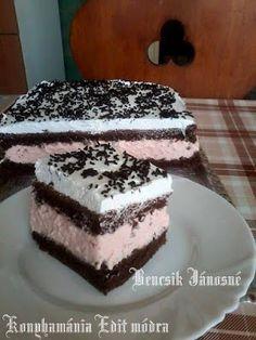 Tejszínes puncsos krémes sütemény     Ildikótól kaptuk gyönyörű,nagyon finom habkönnyű krémmel készítette.     Hozzávalók a tész...