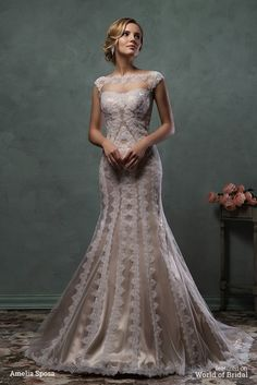 Amelia Sposa 2016 Wedding Dress for Spring Fall Winter Brides,Ivory Tulle and Embroidered Lace Appliques Overlay with Champagne Gold Satin Underlay,Elegant and Timeless Romance. Wedding Dresses From China, 2016 Wedding Dresses, Wedding Attire, Bridal Dresses, Wedding Gowns, Tulle Wedding, Gold Wedding, Gatsby Wedding, Ball Dresses