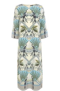 This lined midi dress is constructed from silk and features a round neckline, cropped sleeves, split side seams, relaxed cut and all-over colonial print. Length of dress, from shoulder seam to hem, 125cm approx. Height of model shown: 6ft inches/183cm. Model wears: UK size 10.Fabric:Main: 100.0% Silk.Wash care:Hand WashProduct code: 02336799 Price: £90.00