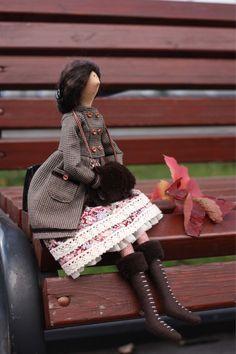 Купить Текстильная кукла в стиле Тильда - кукла ручной работы, кукла, кукла в подарок