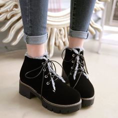 GET $50 NOW | Join RoseGal: Get YOUR $50 NOW!http://www.rosegal.com/boots/fur-lined-ankle-boots-941704.html?seid=2275071rg941704