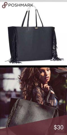 VIctoria Secrets Fringe Faux Leather Bag NWT NWT Victoria Secrets Fringe Faux Leather Bag.. regular price on this bag is $85.. Victoria's Secret Bags Shoulder Bags