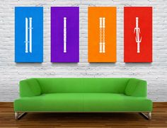 TMNT Weapon Prints by Christina Connelly, via Behance