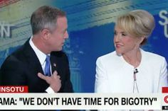 """I can't believe you're supporting Donald Trump"": Jan Brewer stuns Martin O'Malley with refusal to acknowledge Trump's campaign of bigotry"