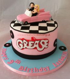 Grease Themed Birthday Cake