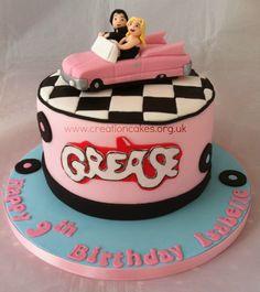 Grease Themed Birthday Cake