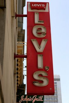 Levi's Neon SIgn by xheightla Old Neon Signs, Vintage Neon Signs, Old Signs, Jeans Recycling, Advertising Signs, Levi Strauss, Neon Lighting, Vintage Levis, Signage