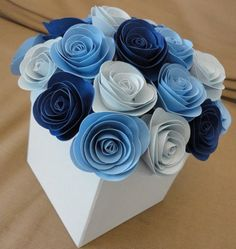 Centerpieces which don't involve flowers / Paper flowers