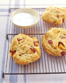 Nectarine Shortcakes - Martha Stewart Recipes  These will be perfect for the teachers.