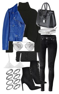 """""""Untitled #19652"""" by florencia95 ❤ liked on Polyvore featuring Yves Saint Laurent, H&M, Golden Goose, Miu Miu, Christian Dior and Jeffrey Campbell"""
