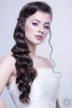#classy #bridal #hairstyle
