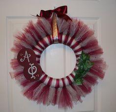 Alpha Phi wreath by Crafty Sratty