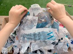 How to make a papier mache volcano for science fair - step4 - Red Ted Art's Blog