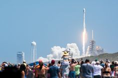 One of the closest public launch viewing areas was open for the first time ever during Friday's SpaceX Falcon 9 Rocket launch from Kennedy Space Center.