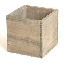 """""""WOODLAND"""" CUBE PLANTER 4"""" - CHOOSE FROM 2 COLORS"""