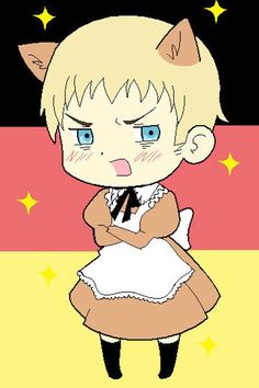 Axis Powers Hetalia Italy Brown Maid Cosplay Outfits Costumes