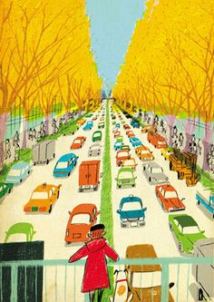 Illustration by Atsushi Hara. #city