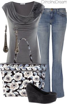 """Untitled #475"" by crinolinedream on Polyvore.  Not crazy about the bag but I love everything else"