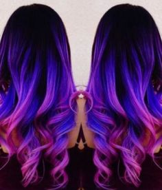 Image result for galaxy hair