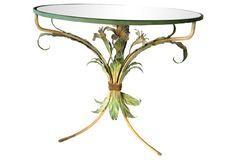Italian Tole Table w/ Flowers
