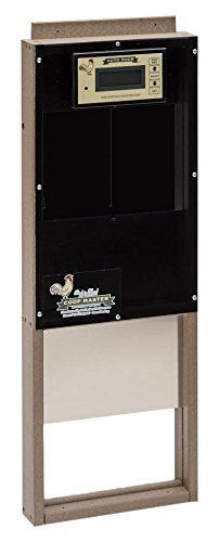 Coop auto door is a heavy-duty Amish-made automatic chicken coop door that comes ready-to-use and requires minimal installation and setup. The predator-proof heavy duty all-weather aluminum door f. Cheap Chicken Coops, Chicken Coop Plans, Automatic Chicken Coop Door, Dog Diapers, Dog Feeding, Outdoor Dog, Raising Chickens, Chickens Backyard, Dog Bowls