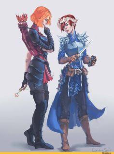 contrasun, Leliana, DA characters, Dragon Age, fandom, Gray guard, Morrigan, Alister