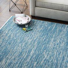Painter's Cotton + Wool Rug - Aquamarine #westelm